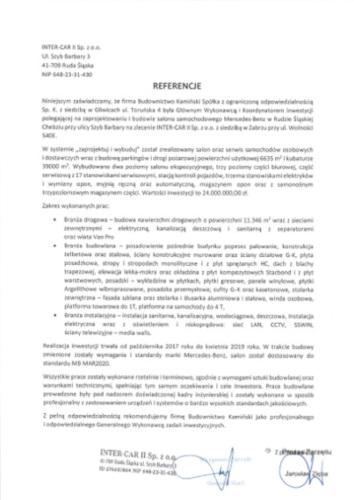Kamiński Budownictwo- Wykonawca Salonu Mercedes Ruda Śląska