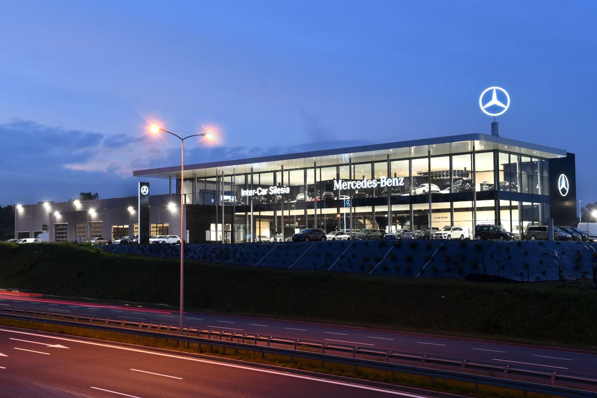 Kamiński - Budownictwo. Budownictwo generalne wykonawstwo, Budowa salonu samochodowego, Mercedes-Benz w Rudzie Śląskiej