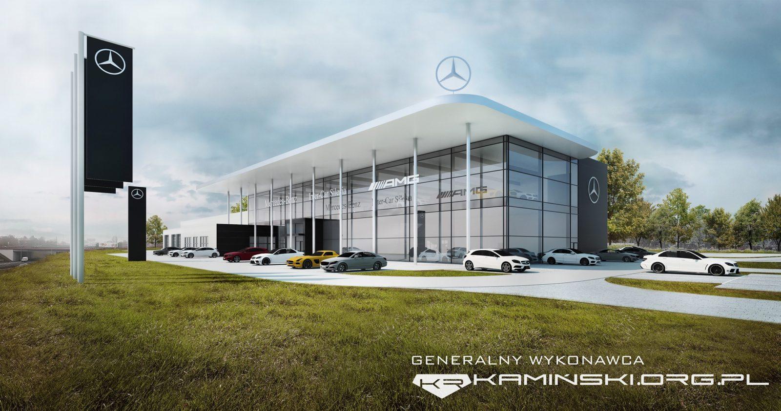 Salon i serwis samochodowy dla dealera Mercedes Benz