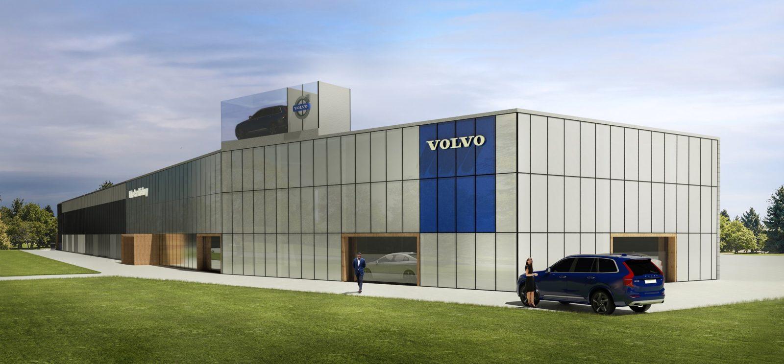 Volvo Wrocław – prace wykończeniowe