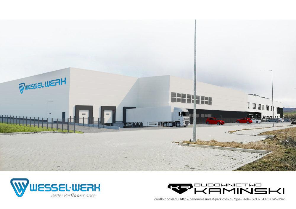 Rozbudowa hali produkcyjno-magazynowej dla firmy Wessel Werk