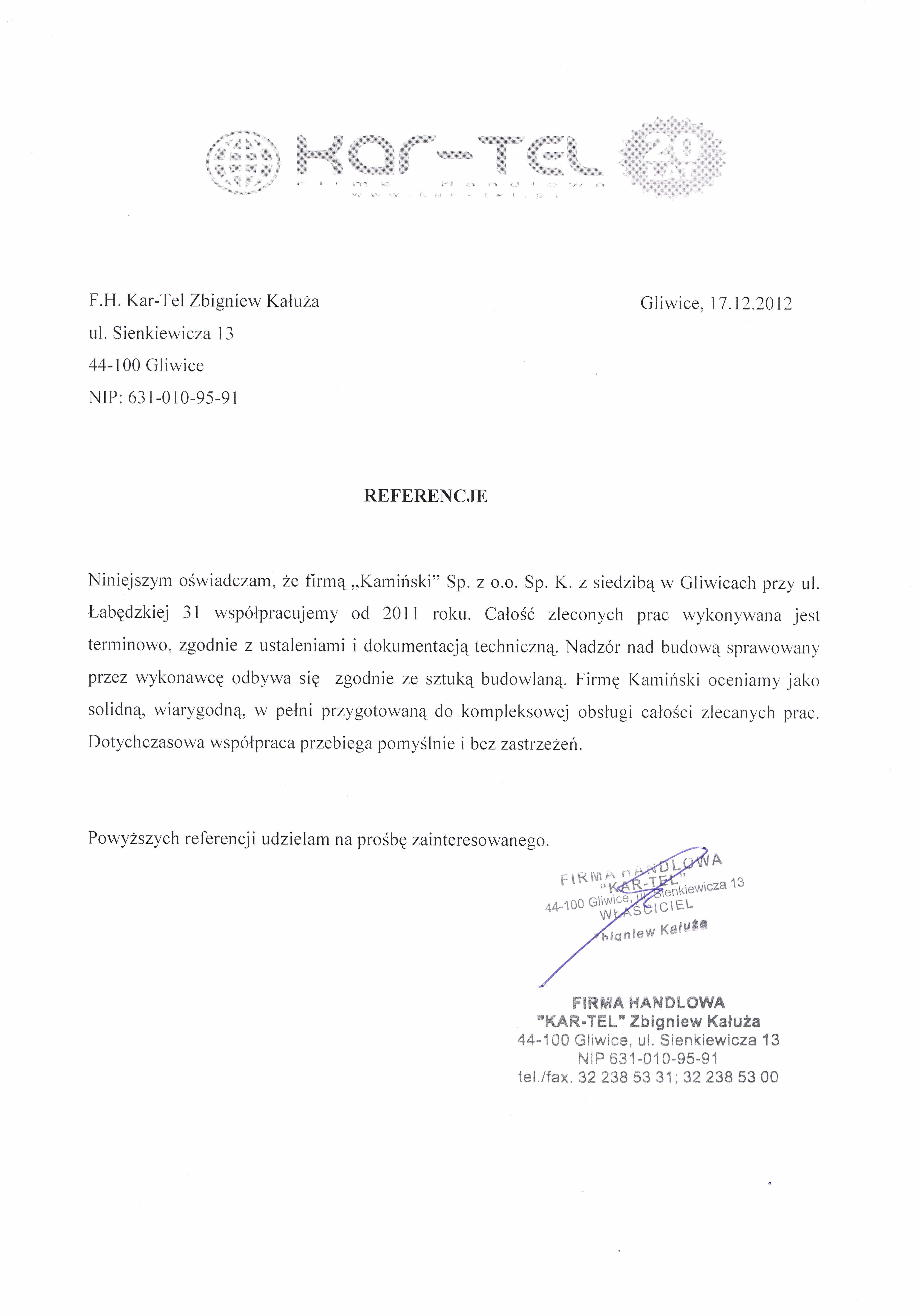 Generalne wykonawstwo Pasaż handlowy Jasna w Gliwicach Kar-Tel